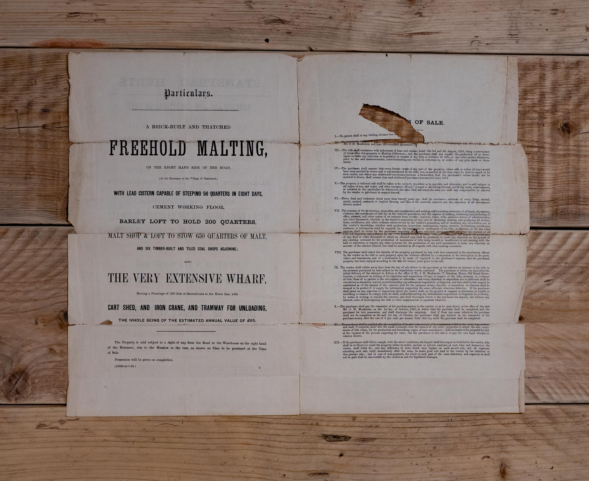 Auction Advertisement for Riverside Maltings