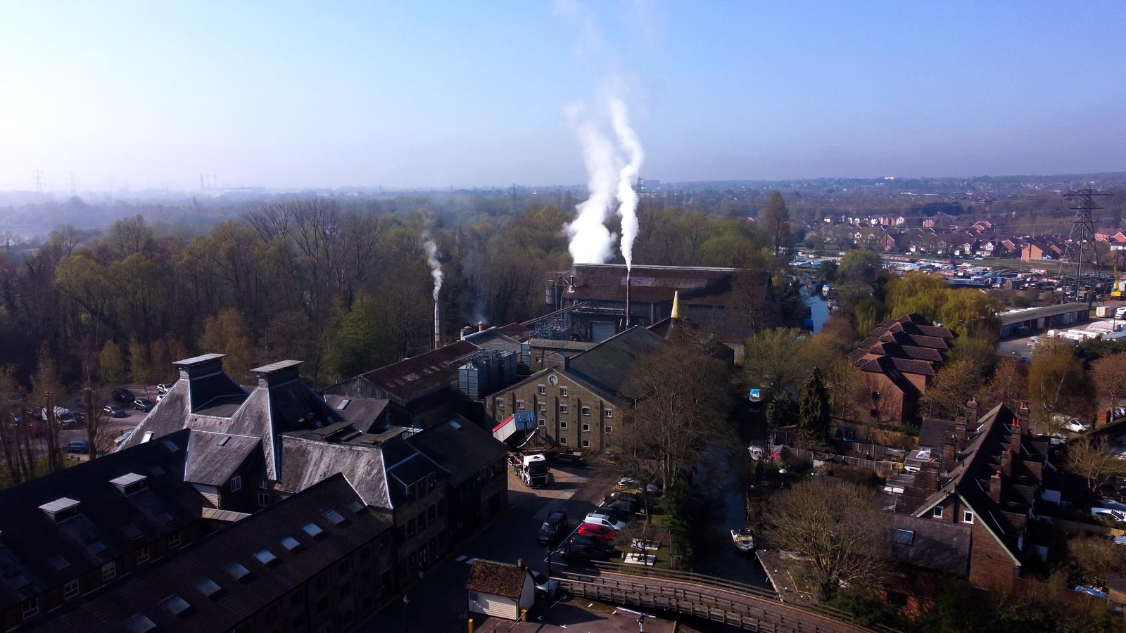 Aerial photo of the Maltings